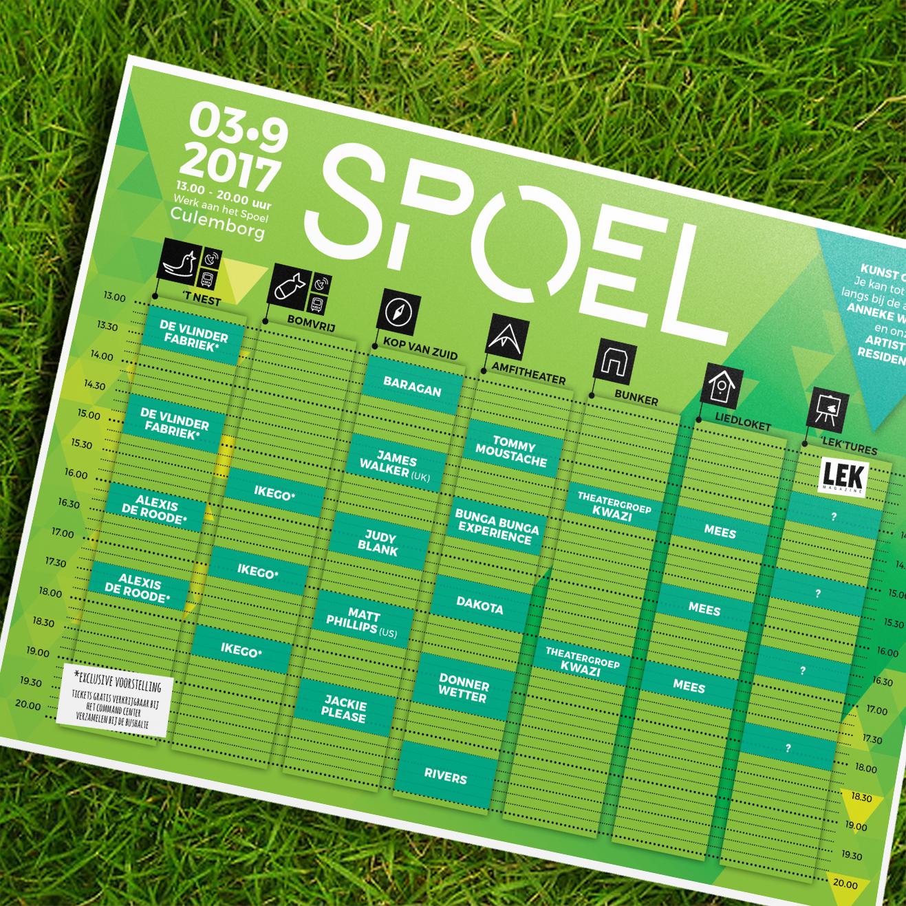 SPOEL festival_Blokkenschema in het gras